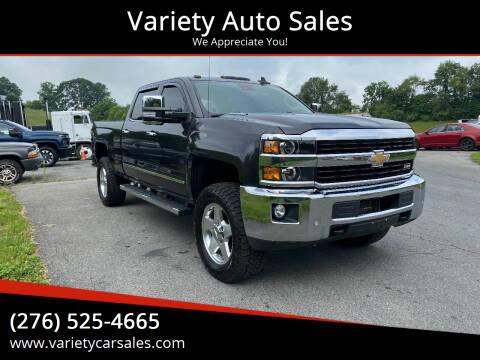 2015 Chevrolet Silverado 2500HD for sale at Variety Auto Sales in Abingdon VA
