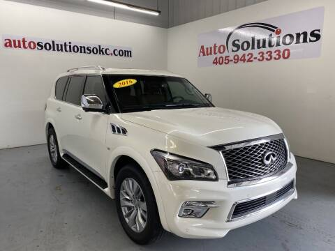 2016 Infiniti QX80 for sale at Auto Solutions in Warr Acres OK
