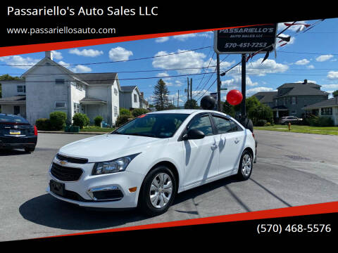 2016 Chevrolet Cruze Limited for sale at Passariello's Auto Sales LLC in Old Forge PA