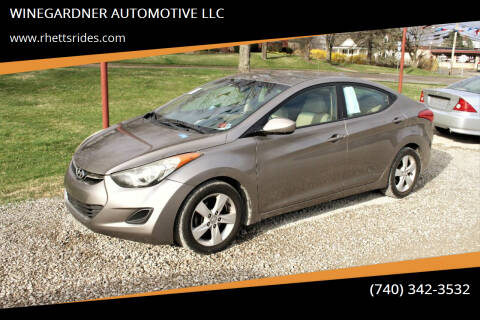 2013 Hyundai Elantra for sale at WINEGARDNER AUTOMOTIVE LLC in New Lexington OH