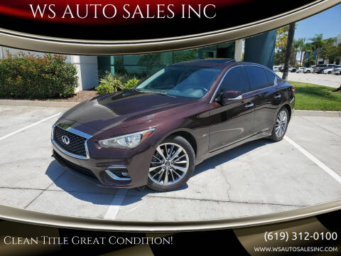 2018 Infiniti Q50 for sale at WS AUTO SALES INC in El Cajon CA