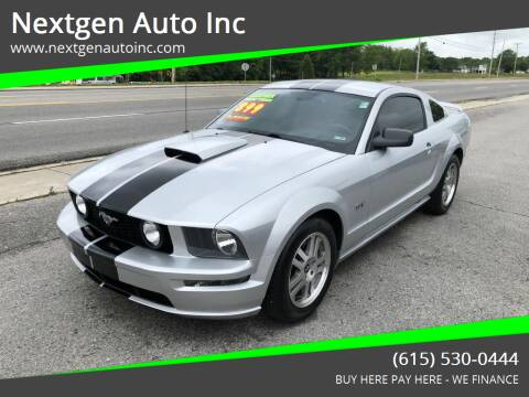 2008 Ford Mustang for sale at Nextgen Auto Inc in Smithville TN