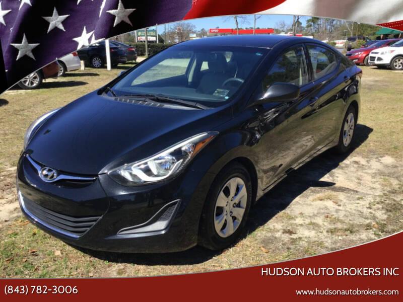 2016 Hyundai Elantra for sale at HUDSON AUTO BROKERS INC in Walterboro SC