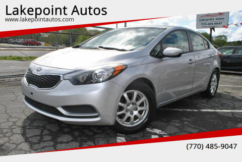 2016 Kia Forte for sale at Lakepoint Autos in Cartersville GA