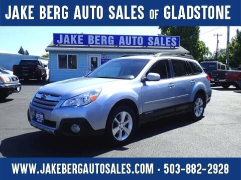 2014 Subaru Outback for sale at Jake Berg Auto Sales in Gladstone OR