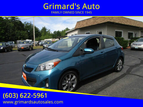 2013 Toyota Yaris for sale at Grimard's Auto in Hooksett, NH