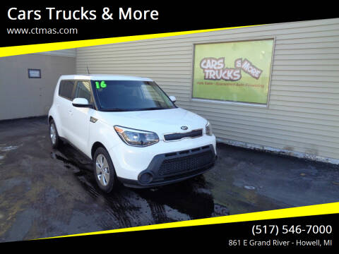 2016 Kia Soul for sale at Cars Trucks & More in Howell MI