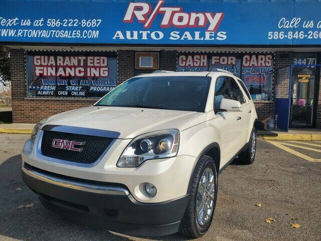 2010 GMC Acadia for sale at R Tony Auto Sales in Clinton Township MI