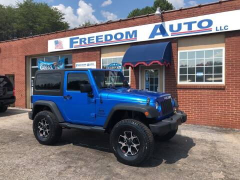 2015 Jeep Wrangler for sale at FREEDOM AUTO LLC in Wilkesboro NC
