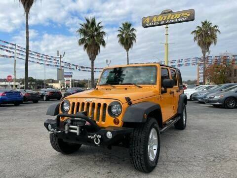 2013 Jeep Wrangler Unlimited for sale at A MOTORS SALES AND FINANCE in San Antonio TX