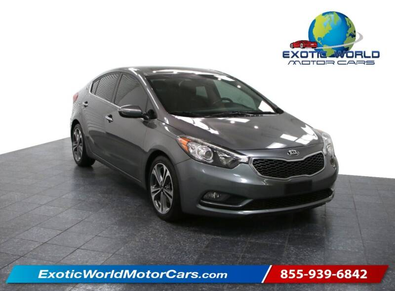 2016 Kia Forte for sale at Exotic World Motor Cars in Addison TX