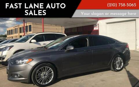 2013 Ford Fusion for sale at FAST LANE AUTO SALES in San Antonio TX