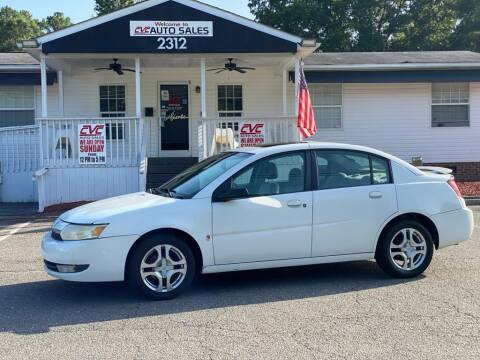 2003 Saturn Ion for sale at CVC AUTO SALES in Durham NC