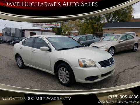2009 Mitsubishi Galant for sale at Dave Ducharme's Auto Sales in Lowell MA