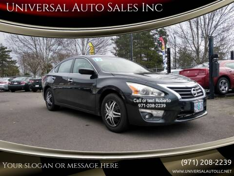 2013 Nissan Altima for sale at Universal Auto Sales Inc in Salem OR