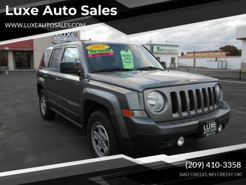 2012 Jeep Patriot for sale at Luxe Auto Sales in Modesto CA