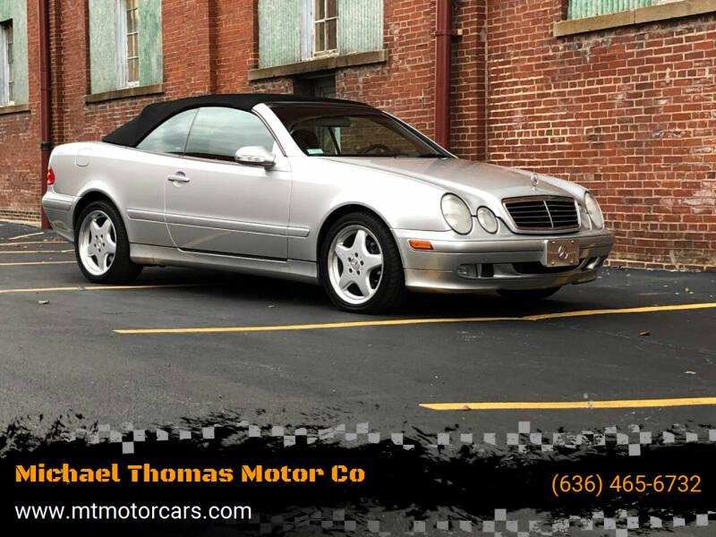 2003 Mercedes-Benz CLK for sale at Michael Thomas Motor Co in Saint Charles MO
