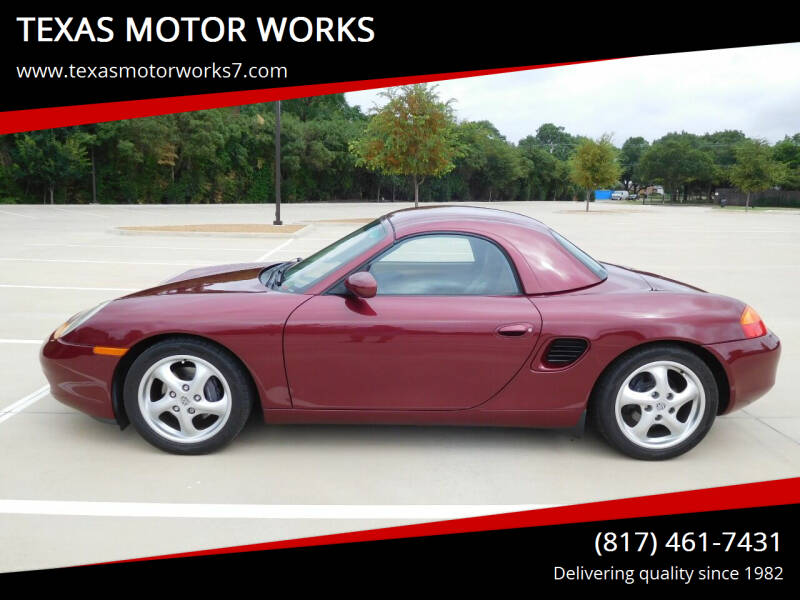 1998 Porsche Boxster for sale at TEXAS MOTOR WORKS in Arlington TX