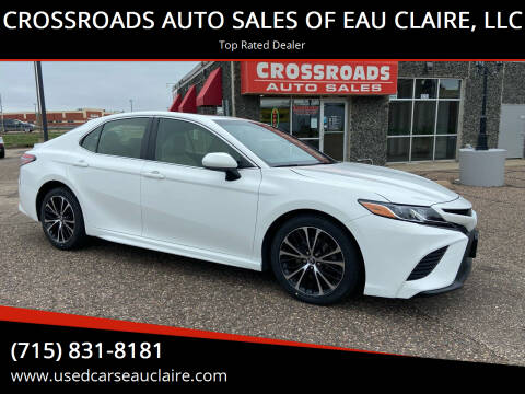 2018 Toyota Camry for sale at CROSSROADS AUTO SALES OF EAU CLAIRE, LLC in Eau Claire WI