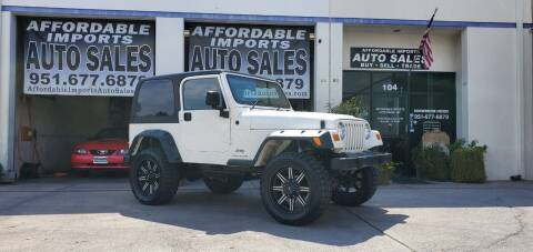 2004 Jeep Wrangler for sale at Affordable Imports Auto Sales in Murrieta CA