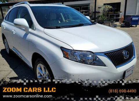 2010 Lexus RX 350 for sale at ZOOM CARS LLC in Sylmar CA