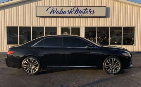 2017 Lincoln Continental for sale at Wabash Motors in Terre Haute IN