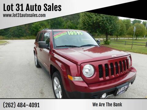 2012 Jeep Patriot for sale at Lot 31 Auto Sales in Kenosha WI