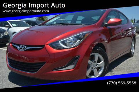 2015 Hyundai Elantra for sale at Georgia Import Auto in Alpharetta GA