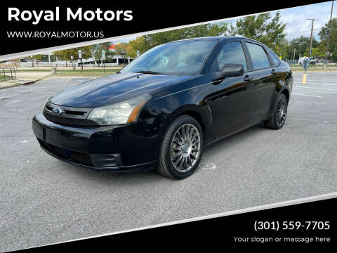 2010 Ford Focus for sale at Royal Motors in Hyattsville MD