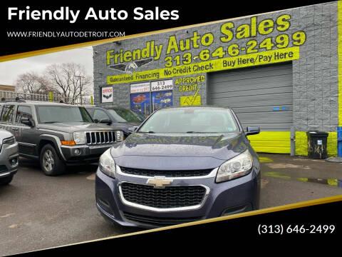 2015 Chevrolet Malibu for sale at Friendly Auto Sales in Detroit MI