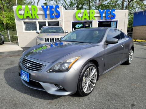 2014 Infiniti Q60 Coupe for sale at Car Yes Auto Sales in Baltimore MD