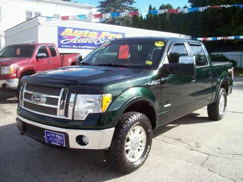 2012 Ford F-150 for sale at Auto Pro Auto Sales in Lewiston ME