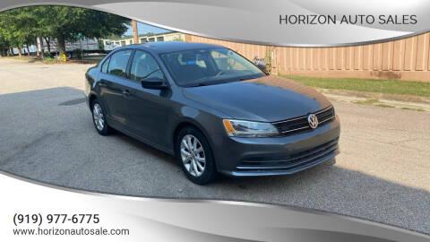 2015 Volkswagen Jetta for sale at Horizon Auto Sales in Raleigh NC