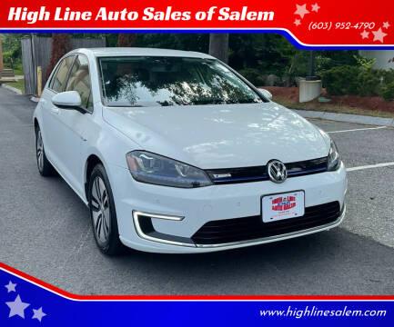 2015 Volkswagen e-Golf for sale at High Line Auto Sales of Salem in Salem NH