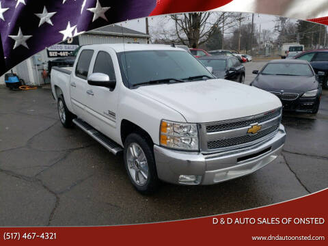 2012 Chevrolet Silverado 1500 for sale at D & D Auto Sales Of Onsted in Onsted   Brooklyn MI