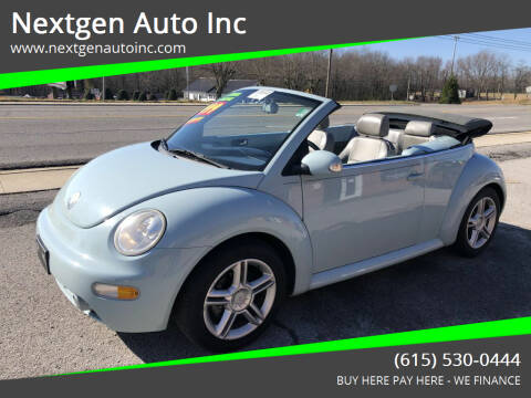 2004 Volkswagen New Beetle Convertible for sale at Nextgen Auto Inc in Smithville TN