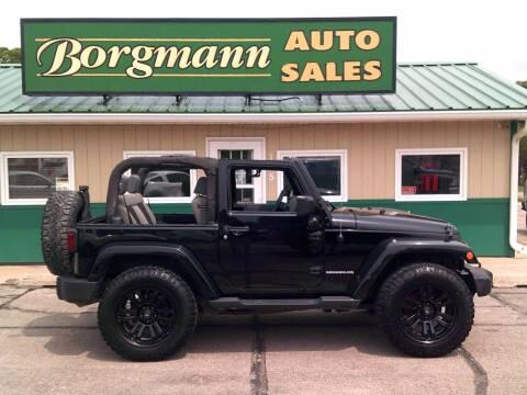 2010 Jeep Wrangler for sale at Borgmann Auto Sales in Norfolk NE