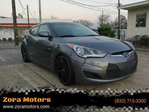 2013 Hyundai Veloster for sale at Zora Motors in Houston TX