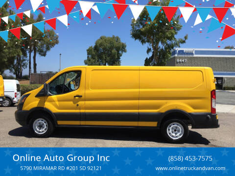 2015 Ford Transit Cargo for sale at Online Auto Group Inc in San Diego CA