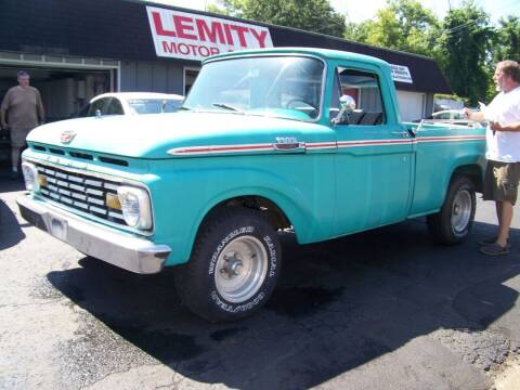 1963 Ford F-100 for sale at Collector Car Co in Zanesville OH