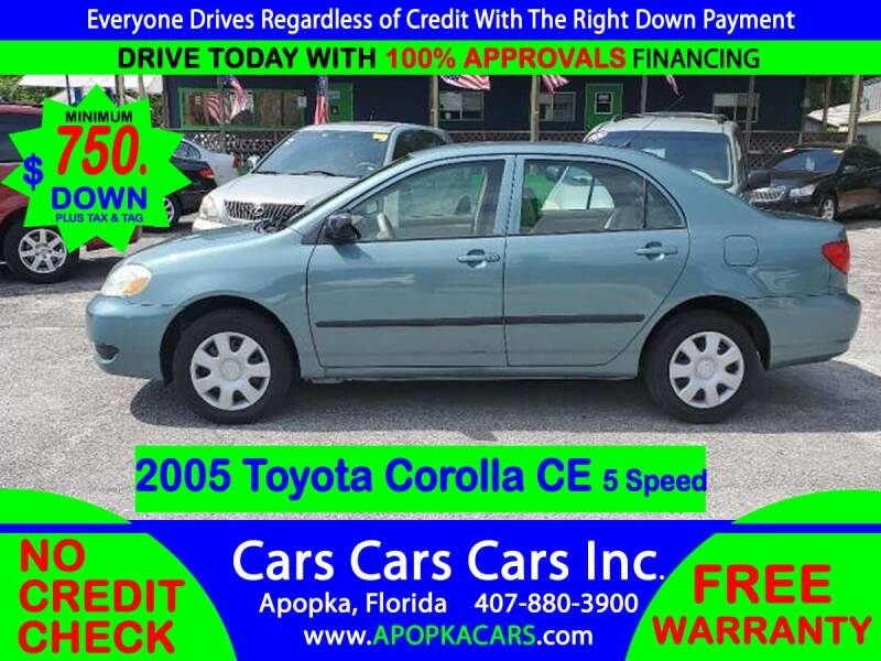 2005 Toyota Corolla for sale at CARS CARS CARS INC in Apopka FL