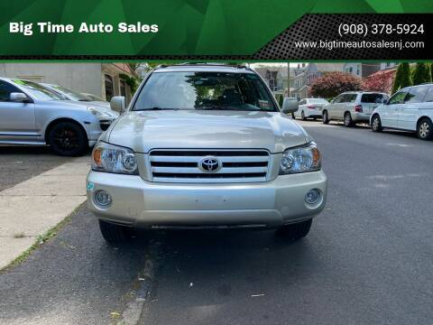 2005 Toyota Highlander for sale at Big Time Auto Sales in Vauxhall NJ