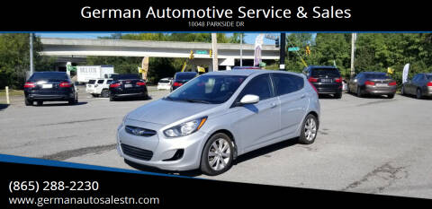 2012 Hyundai Accent for sale at German Automotive Service & Sales in Knoxville TN