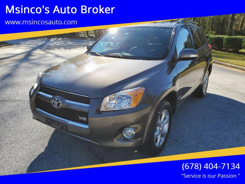 2009 Toyota RAV4 for sale at Msinco's Auto Broker in Snellville GA
