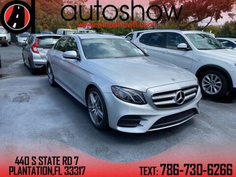 2018 Mercedes-Benz E-Class for sale at AUTOSHOW SALES & SERVICE in Plantation FL