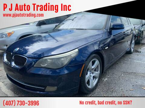 2008 BMW 5 Series for sale at P J Auto Trading Inc in Orlando FL