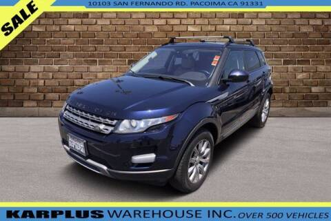2014 Land Rover Range Rover Evoque for sale at Karplus Warehouse in Pacoima CA