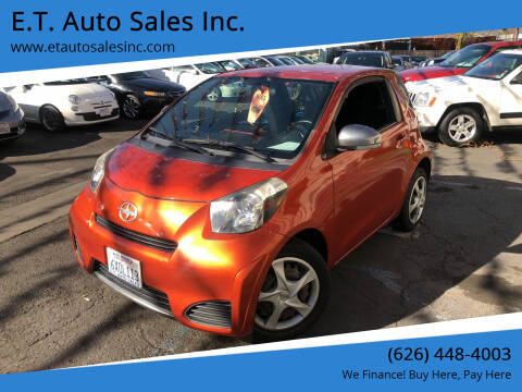 2013 Scion iQ for sale at E.T. Auto Sales Inc. in El Monte CA