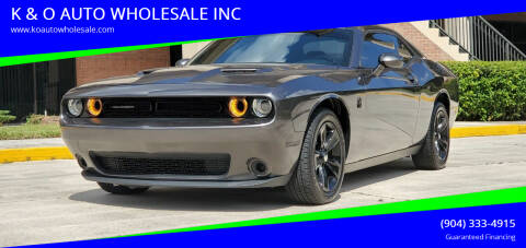 2016 Dodge Challenger for sale at K & O AUTO WHOLESALE INC in Jacksonville FL