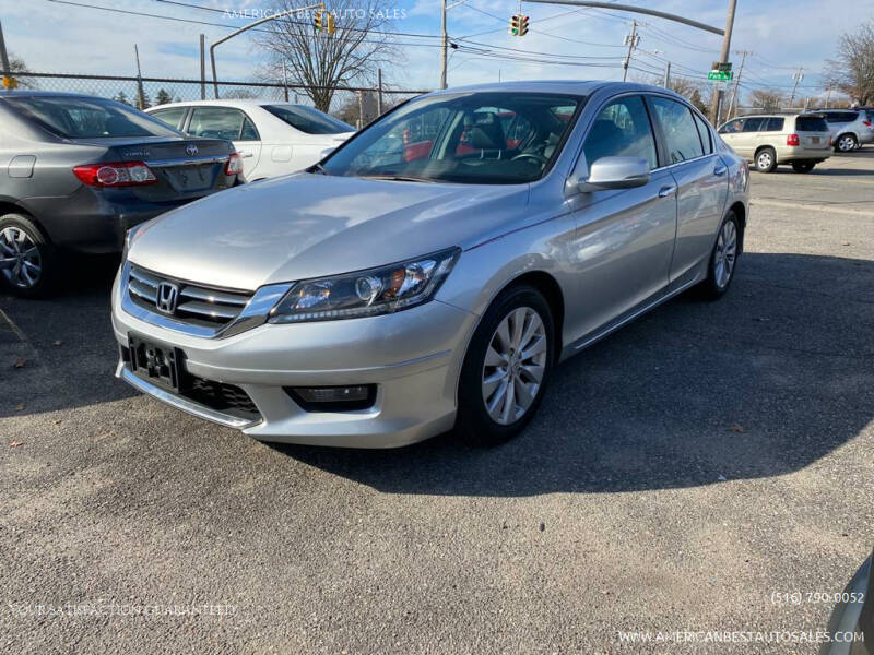 2014 Honda Accord for sale at American Best Auto Sales in Uniondale NY